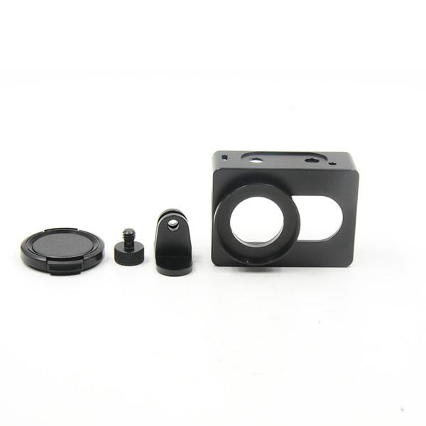 CNC Aluminium Protective Housing Case Cover Portable Frame Dog Cage for XiaoYi Sport Camera