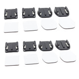 F05737-2 4Pairs Flat & Curved Adhesive Sticky Mount for GoPro HD Hero 2/3/3 Plus 4 Xiaoyi Mi SJ4000 SJ5000 Sony Action C