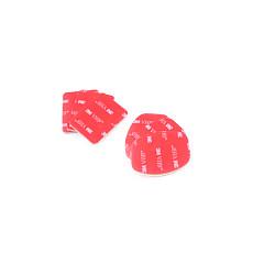 6 Pcs 3M VHB Adhesive Sticky 3 Concave 3 Flat Sticker for Gopro hero 1 2 3 Helmet Mount Red GITUP GIT1 GIT2