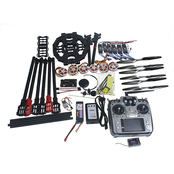 Full Set Hexacopter Drone 6-axis Aircraft Kit Tarot FY690S Frame 750KV Motor GPS APM 2.8 Flight Control AT10 Transmitter
