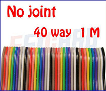F01971 1 meter 40WAY Flat Color Rainbow Ribbon Cable wire , For home appliance/instrument etc.