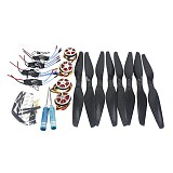 4-Axis Foldable Rack RC Quadcopter Kit +750KV Motor+14x5.5 Propeller+30A ESC+ KK Connection Board