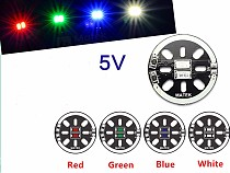2pcs/lot LED X2/5V Motor Mount light for 1806 2204 2206 Multicopters Drones Red Blue Green White
