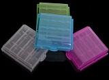 2Pcs AA / AAA Ni-MH Battery AKKU Plastic Case Holder Storage Box Colorful