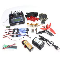 Unassembled Q330 Frame QQ Super Controller Motor ESC with Flysky FS-i6 6CH Transmitter for DIY RC Drone Racer Aircraft