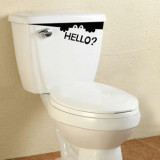 1 Piece The Elves Creative Cartoon Funny Post Toilet Waterproof Wall Stickers Decals Decoration