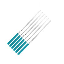 Primitive 5Pcs Stainless Steel + Silicone Grilled Roasted Bake Needle Kebab Kabob Roasted Skewers Picnic BBQ Tool