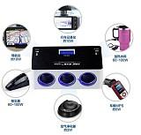 S01009 HSC YC-434 Dual USB Port 120W 16A Car 3 Cigarette Lighter Sockets Universal Car Charger Compression Tester