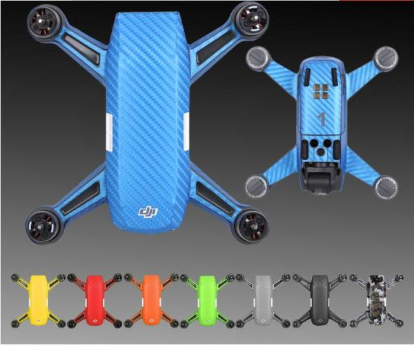 Sunnylife Spark Drone Body Sticker Battery PVC Waterproof Anti-scratch Carbon Fiber Skin Decal Stickers for Spark UAV