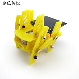 New Version funny DIY Puzzle Toys Educational Toys Solar Quadruped Robot 7.5*7.5*7.5cm 4WD Smart Robot Chassis RC Toy