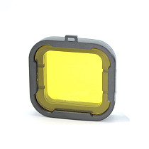 F08639 Polarizer Yellow Color Underwater Diving UV Lens Filter For GoPro Hero3 / 3 Plus Camera xt-xinte