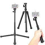 Kingjoy  5-Section DSLR Camera Tripod for Canon Sony Camera Stand Light & Portable Aluminum Tripod Selfie Stick