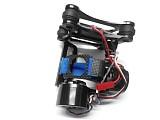 F07464 Aluminum 2-Axis Gimbal Camera Mount PTZ w/ Brushless Motor Controller for Gopro 2/3 FPV DJI Phantom Black