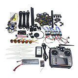 Full Set RC Drone 6-axis Aircraft Kit HMF S550 Frame 6M GPS APM 2.8 Flight Control AT10 Transmitter Gimbal Camera Mount