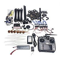 Full Set RC Drone 6-axis Aircraft Kit HMF S550 Frame 6M GPS APM 2.8 Flight Control AT10 Transmitter Gimbal Camera Mount