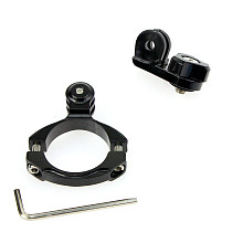 Aluminum Bike Motorcycle Mount Holder 31.8mm + Universal Mount To 1/4 Adapter Converter for GoPro HD Camera Xiaoyi GITUP