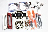 F02192-D HJ 450 Multicopter 450F nylon Fiber Frame Airframe +QQ Flight Control board+1000KV Motor+30A ESC+1045 Pro+US Fr