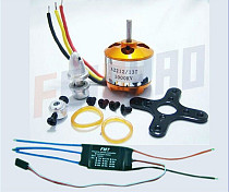 F02015-A A2212 1000KV Brushless Outrunner Motor 13T + 30A Speed Controller ESC ,RC Aircraft KK QuadCopter UFO