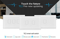 Broadlink TC2 433 Radio Frequency US/AU Smart Home RF Touch Light Switches 1 / 2 / 3 Gang 110V / 220V RC Wall Touch Swit