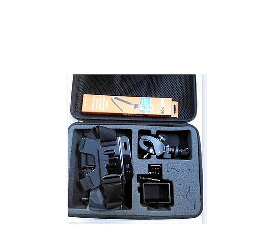 F07568-B Large Storage Bag kit/Handheld Monopod/Chest Strap/Protective Frame for Gopro Camera