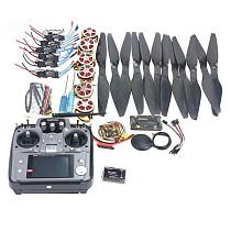 F05422-F 6 Axis Foldable Rack RC Quadcopter Kit APM2.8 Flight Control Board+GPS+750KV Motor+14x5.5 Propeller+30A ESC+AT1