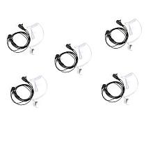 5 Pcs Throat Mic Air Tube Earpiece Headset for Baofeng UV5R BF-888s