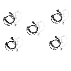 5 Pcs Throat Mic Air Tube Earpiece Headset for Baofeng UV5R BF-888s