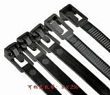 200Pcs 8x250 mm Releasable Nylon Cable Tie Zip Ties Black