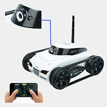 Wifi 4CH Instant RC Tank Car controlled by iPhone mobile phone w/ Live Video Camera Function