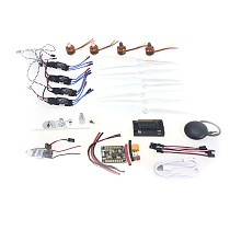 920KV Brushless Motor 30A ESC BEC Self-locking Propeller GPS APM2.8 Flight Control for 4-axis DIY GPS Drone