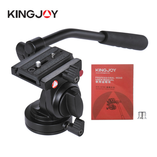 Kingjoy Flexible Aluminum Camera Tripod Head Fluid Video Tripod Head For Canon Nikon and Other DSLR Cameras