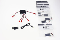 F11938-C 5PCS Hubsan H107-A05 240Mah Battery for Hubsan H107L Quadrocopter +1 to 5 Balance Charger with 5 PCS JST Cable