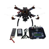 4-Axis Assembled RC Helicopter with APM2.8 Flight Control+FS-i6 6CH Transmitter+GPS Folding Antenna Mount+Camera PTZ