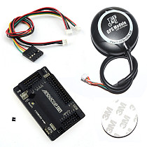 APM2.6 APM 2.8 Multicopter Flight Controller Kit Built-in Compass with 6M GPS Connect Cable for FPV RC Drone Aircraft