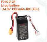 Walkera F210 RC Helicopter Quadcopter spare parts F210-Z-35 Li-po battery14.8V 1300mAh 40C 4S