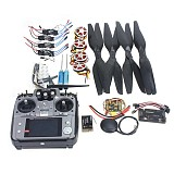 4-Axis Foldable Rack RC Quadcopter Kit APM2.8 Flight Control Board+GPS+750KV Motor+15x5.5 Propeller+30A ESC+AT10 TX