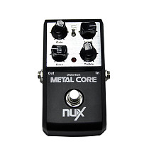 NUX Metal Core Distortion Effect Pedal Tone Lock Preset Function Bypass