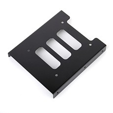 Generic 2.5 SSD HDD To 3.5  Black Mounting Adapter Bracket Dock Hard Drive Holder with Screws for PC
