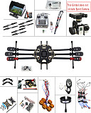 JMT DIY 2.4G 10CH PX4 GPS 5.8G FPV 680PRO RC Hexacopter Unassembled Full Kit ARF No Battery RC Drone MINI3D Pro Gimbal