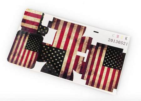 F05817 American Flag Case Sticker For Gopro HD Hero 3 Camera Housing Not Include Case