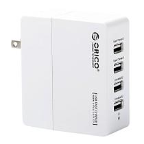 ORICO DCX-4U Portable 4 Ports USB HUB 5V 2.4A / 5V 1.0A AC Wall Charger with Smart Charging Technology - White