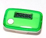 S01105 YGH751 LCD Display Green Digital Sport Pedometer Step Distance Counter Walking Run Motion Fitness Tracker