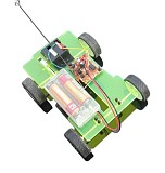14.5*11*4.5cm Easily DIY Assembling Mini Battery Powered Car 4WD Smart Robot Car Chassis RC Toy