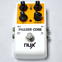 NUX Phaser Core Guitar Effects Pedal Modulation Stomp Effect Pedal Tone Lock Preset Function True Bypass