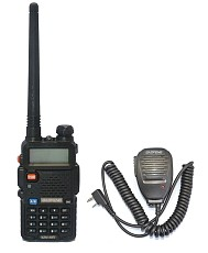 BAOFENG UV-5R UU 136-174/400- 520MHz VHF/UHF two way radio+MIC Speaker