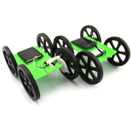 1pcs Mini Solar Powered Toy DIY Car Kit 5*44*60mm 4WD Smart Robot Car Chassis Green Energy RC Toy