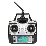 Flysky FS-T6 6CH 2.4G LCD Transmitter R6B Receiver Digital Radio System for RC Helicopter Quadcopter Glider Airplane