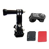 F14874-A 3-Way Pivot Arm Thumb Knob + 1/4 Tripod Mount Adapter Converter + Curved Sticky Mount for Gopro 4 3 Xiaomi Xiao