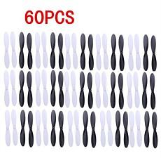 60pcs Propellers H107-A02 Props for Hubsan X4 Quadcopter H107L H107C H107D JXD385 X4 Quadcopter Black/White