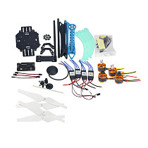 Drone Quadrocopter 4-axis Aircraft Kit 500mm Multi-Rotor Air Frame 6M GPS APM2.8 Flight Control No Transmitter Battery